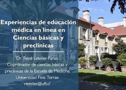 Decano y académico de la Escuela de Medicina U. Finis Terrae participaron del I Seminario Virtual sobre Educación Médica de la Red Andina de Asociaciones de Facultades de Medicina