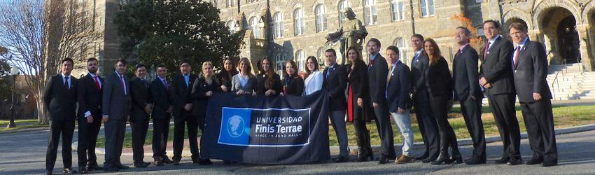 Alumnos de postgrado de la Facultad de Economia y Negocios realizan pasantia internacional en Georgetown university